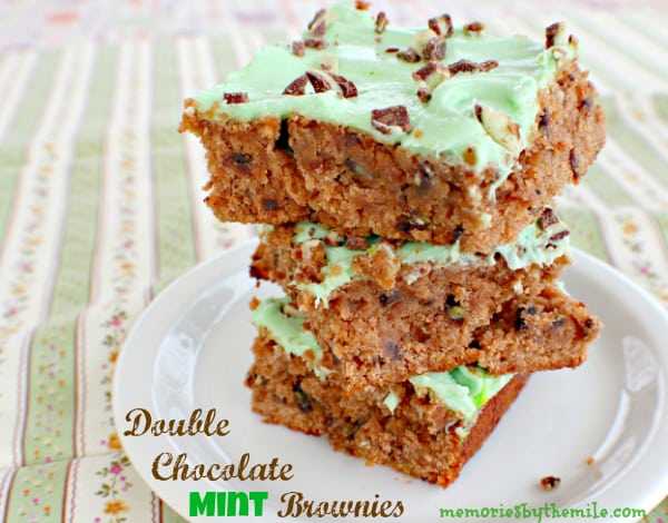 Double Chocolate Mint Brownies