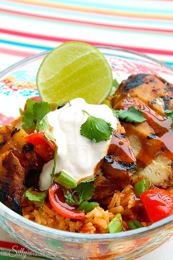 Tex Mex Grilled Chicken Rice Bowl