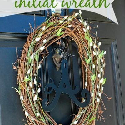 Rustic Initial Wreath
