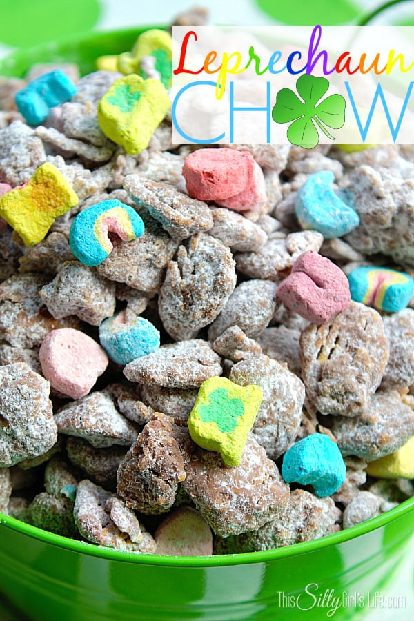 Leprechaun Chow {Muddy Buddies}