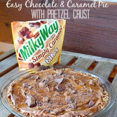 Easy Chocolate and Caramel Pie with Pretzel Crust