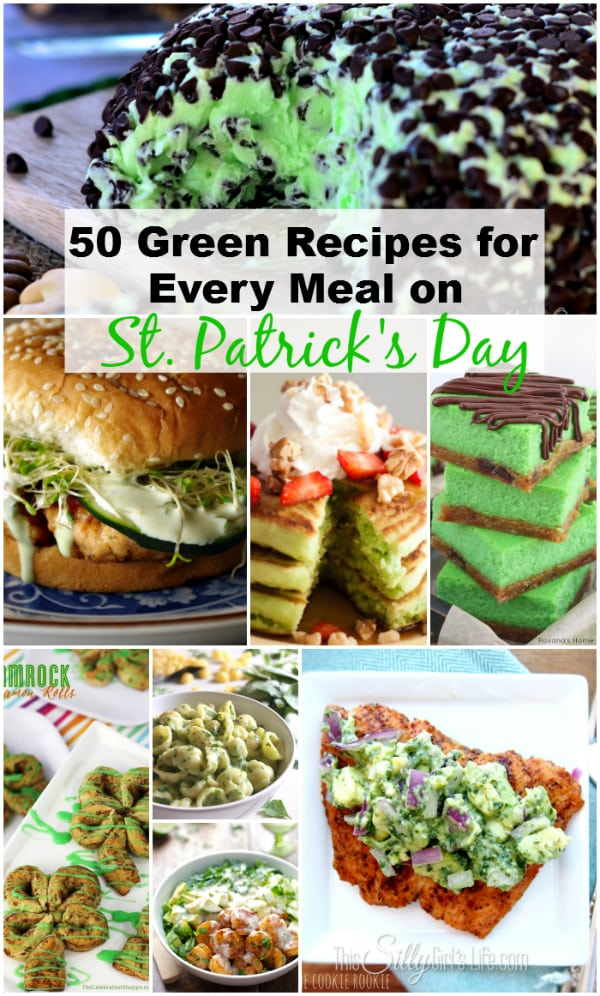 50 Green Recipes for Every Meal on St. Patrick's Day, Breakfast, Lunch, Dinner and Dessert, she has got you covered!