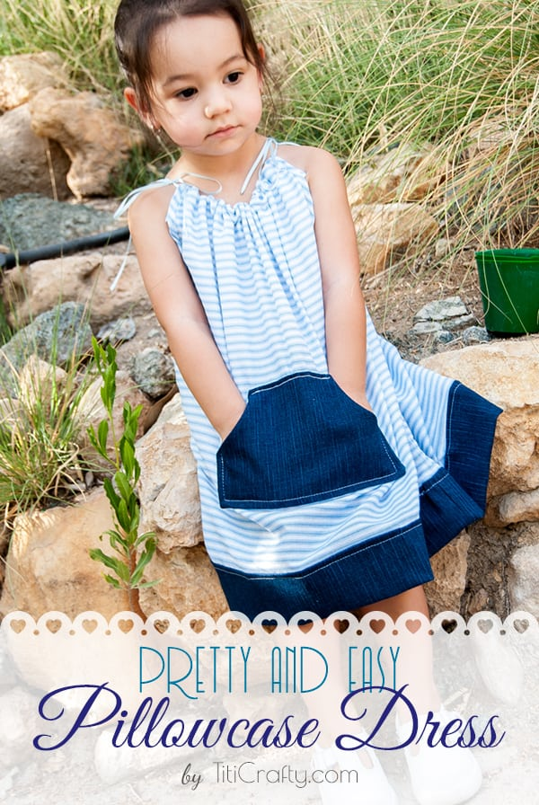 Pretty and Easy Pillowcase Dress with Pattern, really easy to make, you don't have to be a pro to make it!