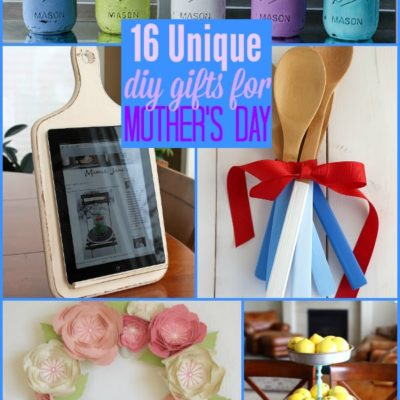 16 Unique DIY Gifts for Mother's Day {The Weekly Round UP}