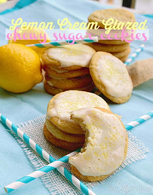 Lemon Cream Glazed Chewy Sugar Cookies, simple chewy sugar cookies ...