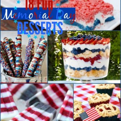 18 Fun Memorial Day Desserts {The Weekly Round UP}