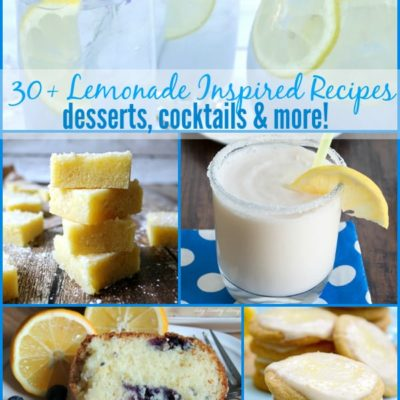 30+ Lemonade Inspired Recipes {The Weekly Round UP}