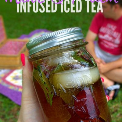 Mint & Plum Infused Iced Tea
