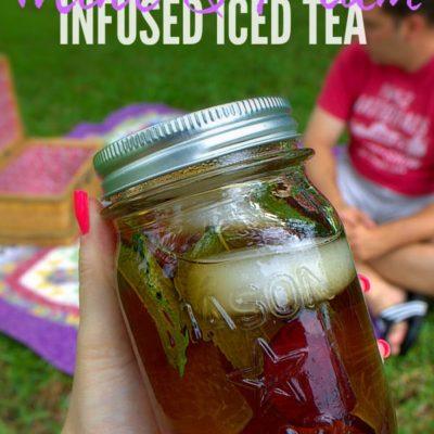 Mint & Plum Infused Iced Tea