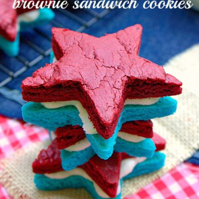 Patriotic Brownie Sandwich Cookies