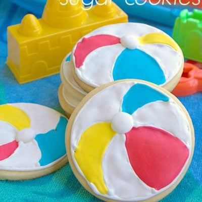 Beach Ball Sugar Cookies