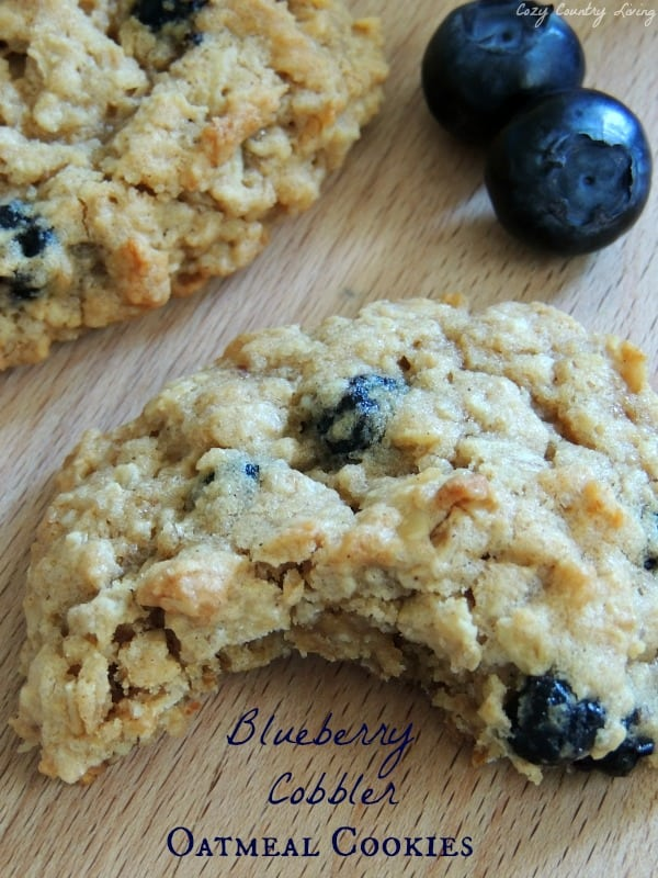 Blueberry Cobbler Oatmeal Cookies