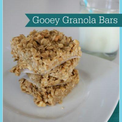 Gooey Granola Bars