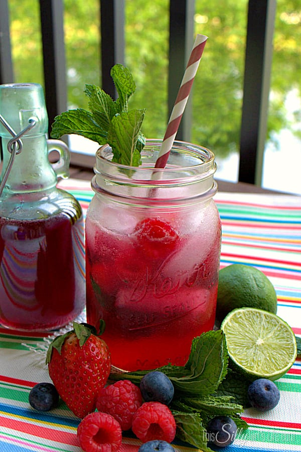 Triple Berry Mojitos, an ice cold refreshing drink to enjoy on a warm summer night!