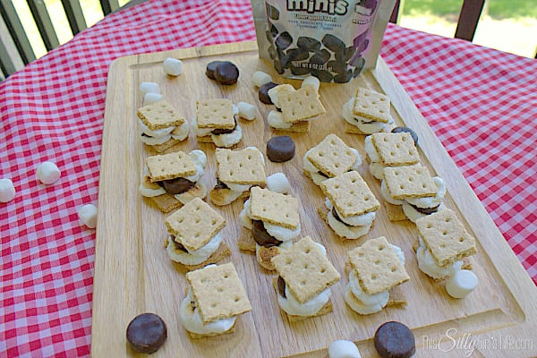 Mini Mint Smores, toasted mini marshmallows with graham crackers and YORK MINIS! #ad