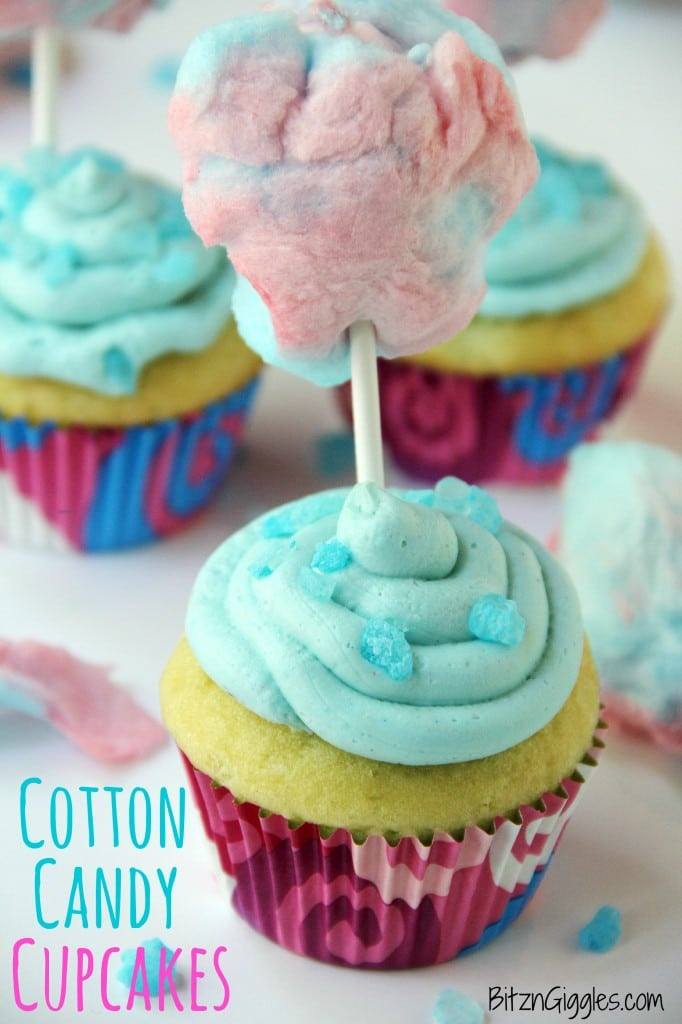 Cotton Candy Cupcakes {contributor Sara}