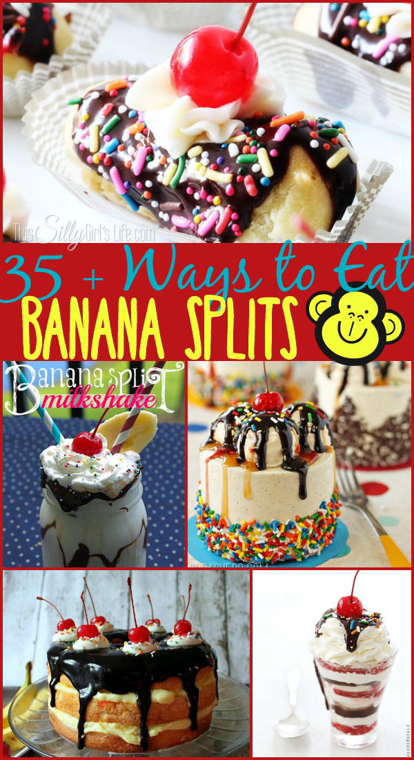 35+ Ways to Eat Banana Splits