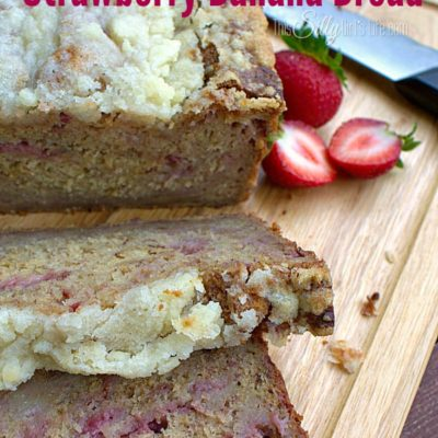 Streusel Topped Strawberry Banana Bread {Using Kefir}