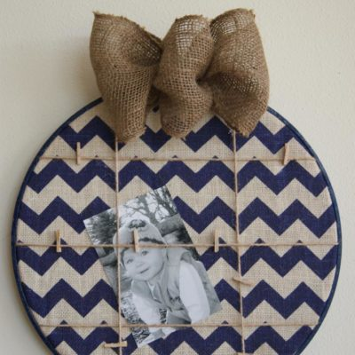 Embroidery Hoop Memo Board