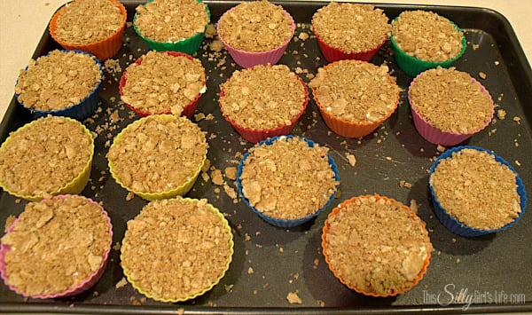 Top with the graham cracker crumbs. Place on platter or sheet tray and place in freezer for 4 hours or until set.