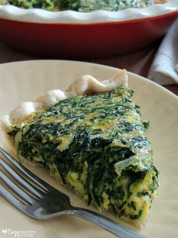 Easy Cheddar and Spinach Quiche {contributor Shannon}
