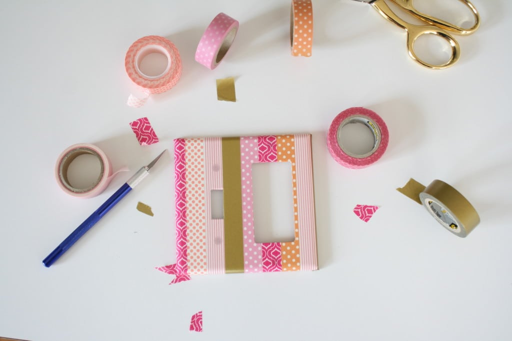 Washi Tape Light Switch, super fun tutorial for customizing your light switches!