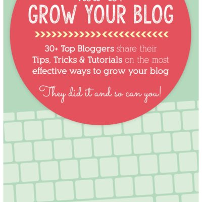 So You Started a Blog, Now What? How to: Grow Your Blog eBook