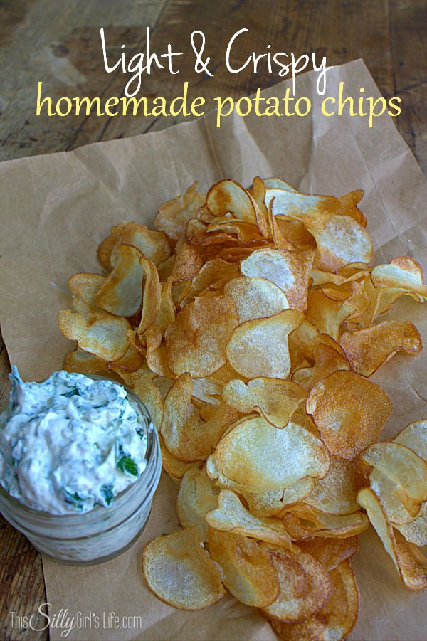Light and Crispy Homemade Potato Chips