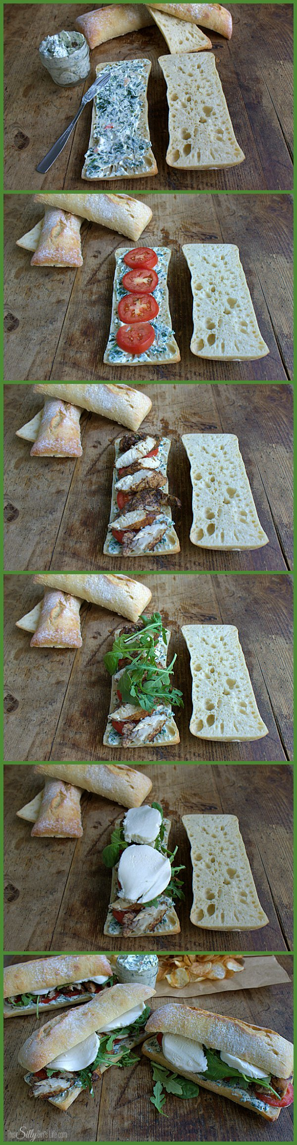 Chicken tenders marinated in balsamic, piled on cibatta bread with fresh arugula and sliced tomatoes. Creamy mozzarella cheese and my secret ingredient, spinach dip! #TEArifficPairs #shop