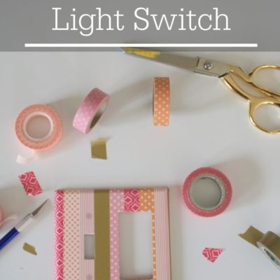 Washi Tape Light Switch {contributor Shelly}