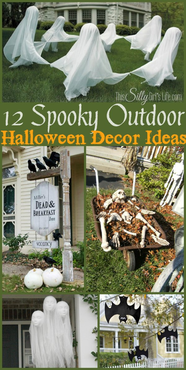 12 Spooky Outdoor Halloween Decor Ideas a collection of fun and spooky Halloween decor ideas for your yard! & 12 Spooky Outdoor Halloween Decor Ideas - This Silly Girlu0027s Kitchen