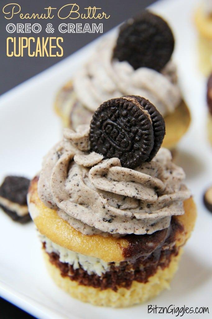 Peanut Butter Oreo and Cream Cupcakes {contributor Sara}
