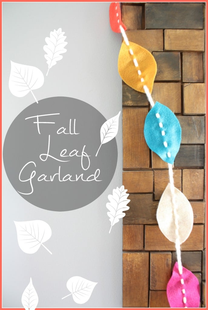 Fall Leaf Garland, simple felt leaf garland that is super easy to customize by changing the colors to your favorite fall pallet.