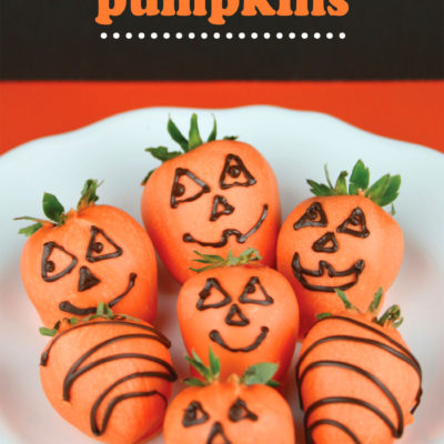 Chocolate Covered Strawberry Pumpkins {contributor Lise}