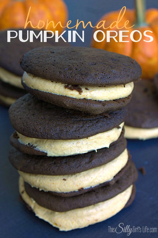 Homemade Pumpkin Oreos