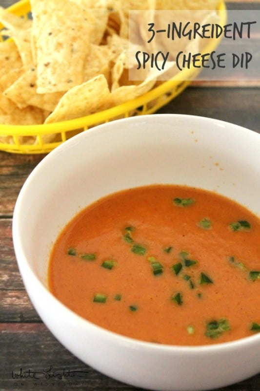 3-Ingredient Spicy Cheese Dip is an easy to make appetizer that will disappear right before your eyes. Just be ready for a spicy kick in your mouth!
