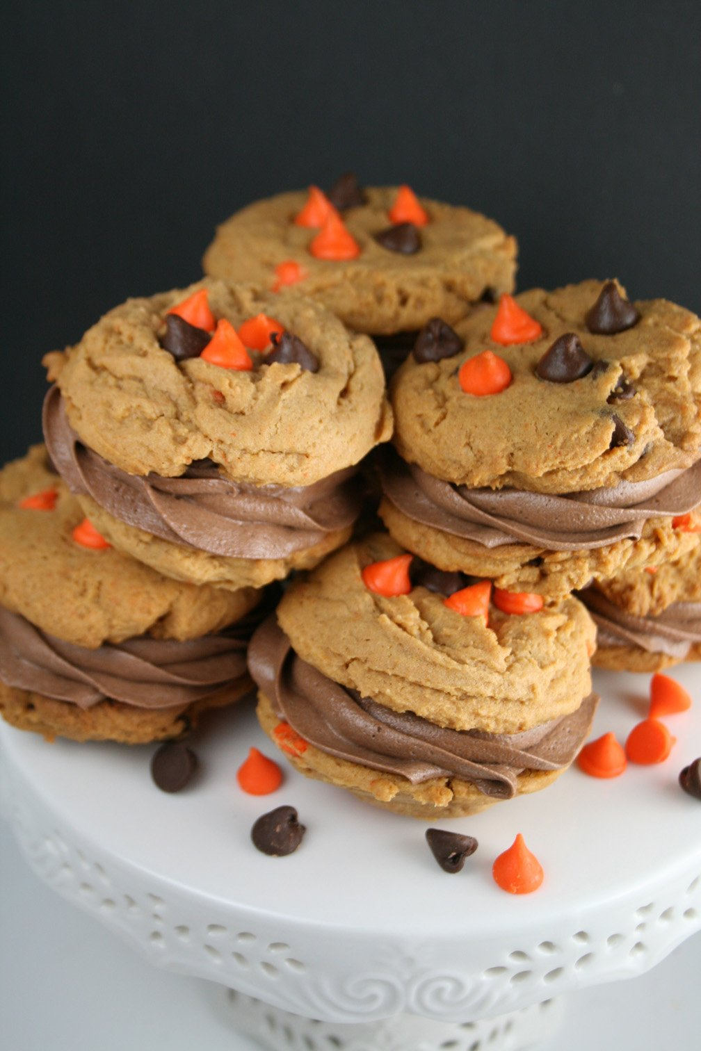 Halloween Pumpkin Sandwich Cookies - This Silly ...