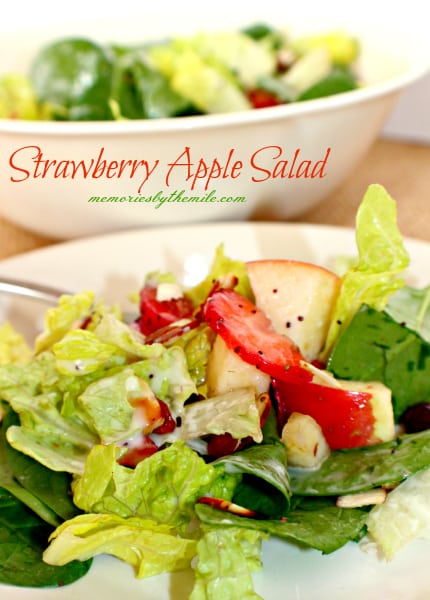 Strawberry Apple Salad {contributor Wanda Ann}