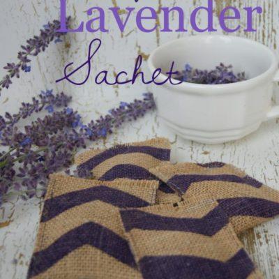 Burlap Lavender Sachet {contributor Mellisa}