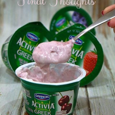 The Activia Challenge Final Thoughts
