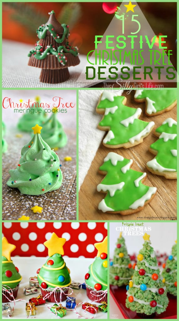 15 Festive Christmas Tree Desserts, a collection of the cutest Christmas Tree desserts to make this holiday season! - ThisSillyGirlsLife.com #ChristmasTreeDesserts