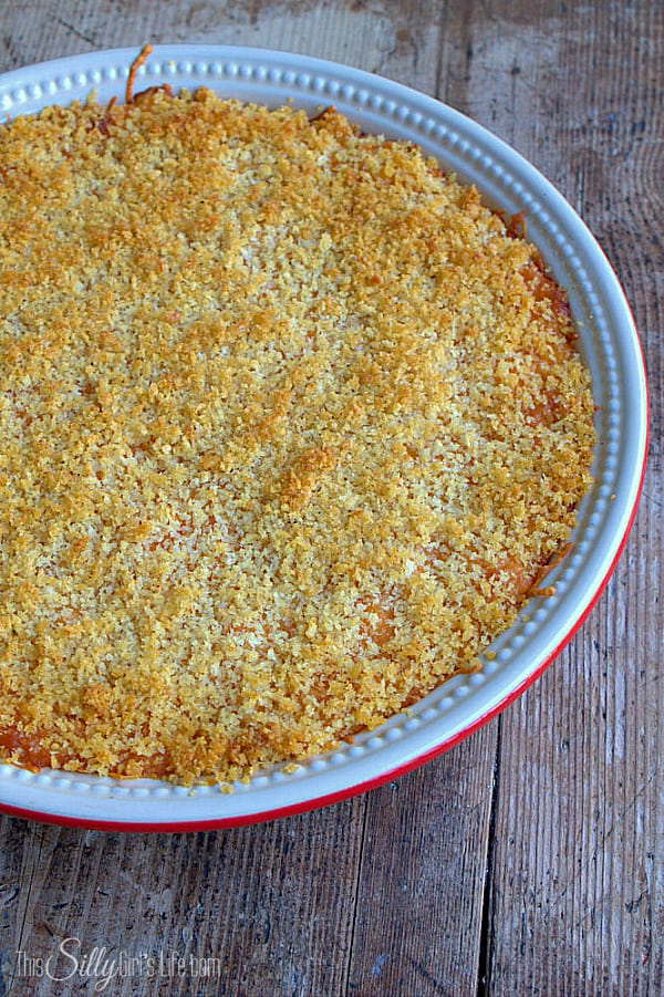 Classic Baked Macaroni and Cheese, a family favorite and the perfect holiday side dish! - ThisSillyGirlsLife.com