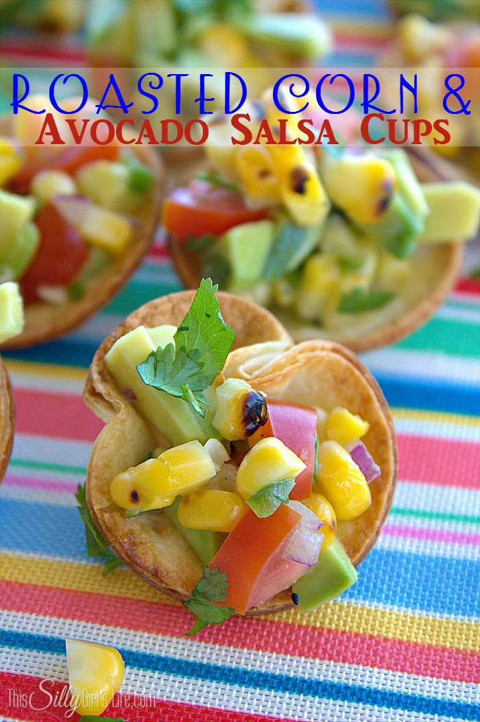avocado salsa cups