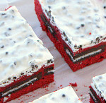 Cookies and Cream Red Velvet Brownies