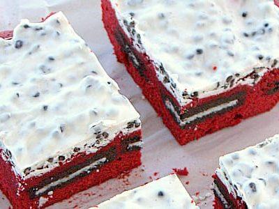 Cookies and Cream Red Velvet Brownies