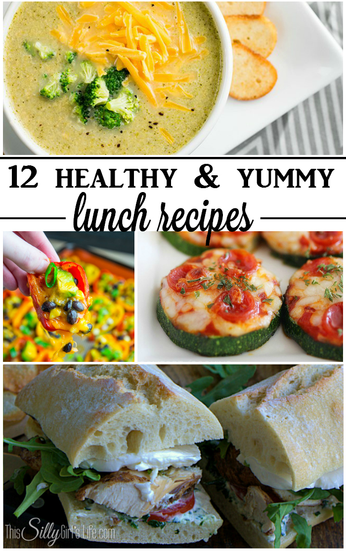 12 healthy and yummy lunch recipes, keep on track with these healthy lunch ideas! - ThisSillyGirlsLife.com