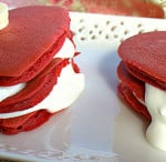 Red Velvet Pancakes with Cream Cheese Fluff