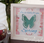3D Butterfly Spring Frame Printable {contributor Cami}