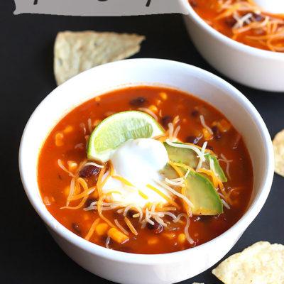Vegetarian Taco Soup {contributor Celeste}