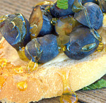 Blueberry and Honey Dessert Bruschetta